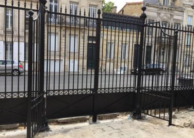 Thermolaquage Grilles et Portails en fer forgé lycée Camille Julian
